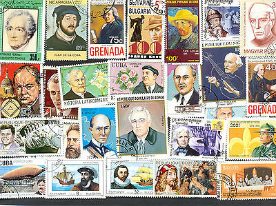 Famous People 500 all different collection mainly large/medium-