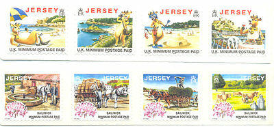 Jersey-1999 printings Days gone By & Lily the Cow - mnh self-adhesives