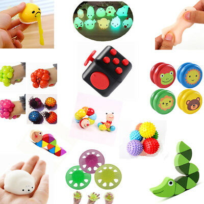 Fun Various Sensory Toys Stretch Fiddle Fidget Stress Autism ADHD Special Needs