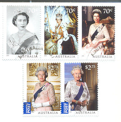 Australia-Queen Elizabeth Longest reign set fine used-ct- 2015-Royalty