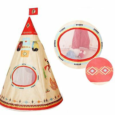 Kids Outdoor Sport Play Games Conical Tent Teepee American Indian Style Popular