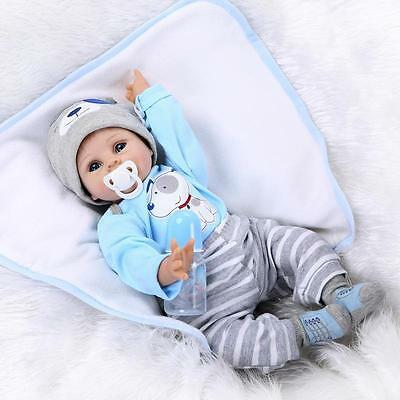 "Bambole 22"" Lifelike Silicone Handmade Reborn Baby Doll Lifelike Toy For Kids"