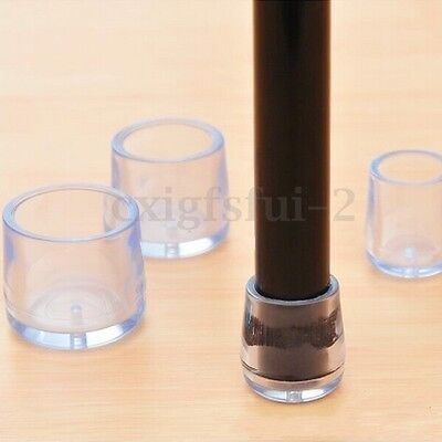4Pcs 15/18/21/24mm Transparent Rubber Table Chair Leg Feet Cap Cover Protector