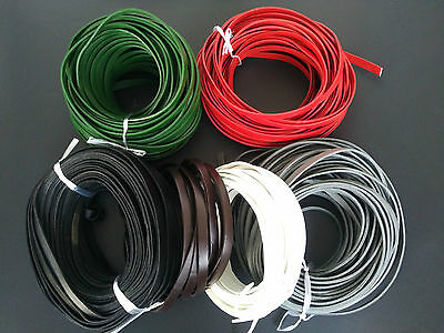 1/3 Meters 10mm Flat Genuine Real Leather Cord 10x2mm String Lace Thong