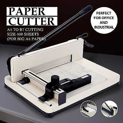 "12"" Guillotine Paper Cutter 400 sheets Commercial Metal Base Trimmer Machine BN"