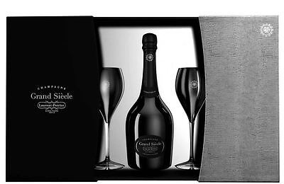 Laurent Perrier Grand Siecle 75cl and 2 glass gift set in Luxury Gift Box