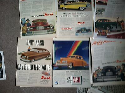 11 1950s diff  NASH Classic Car AD all LARGE POST SIZE  $1 ea LOT #1