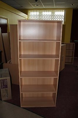 Office Bookcase Beech with 4 Shelves