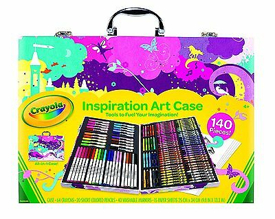 Art Crayola Inspiration Case Pink Standard Packaging New Set Box Crayons Markers