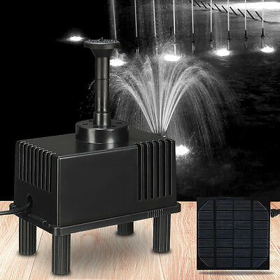 Solar Power Fountain Water Pump With Filter Panel Kit Pond Water Feature 180L/h
