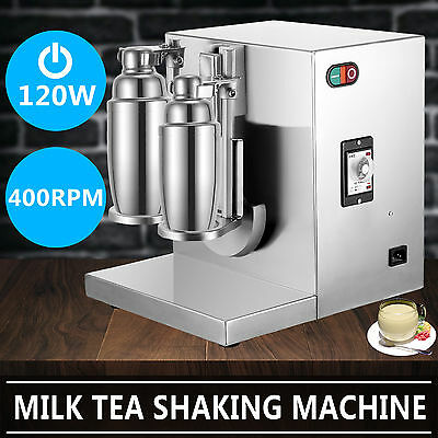 Bubble Boba milkshake maker Machine Mixer Double-Cup Timing Function 360 Degree