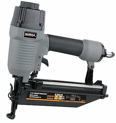 NuMax Pneumatic 2-1/2 In. X 16-Gauge Strip Straight Finish Nailer Air Nail Gun