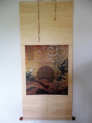 RARE! 20th Cent.Chinese Scroll Print Painting (Orig. Painting in Palace Museum)