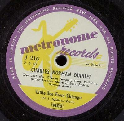 """Charles Norman Quintet 78T Rpm Little Joe From Chicago"