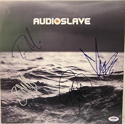 AUDIOSLAVE BAND Chris Cornell +3 Signed Promo Poster Flat PSA/DNA #K38517