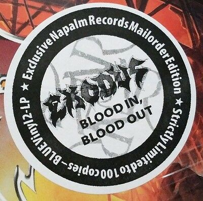 EXODUS – Blood In Blood Out – BLUE 2LP (LTD 100) – NEW & SEALED