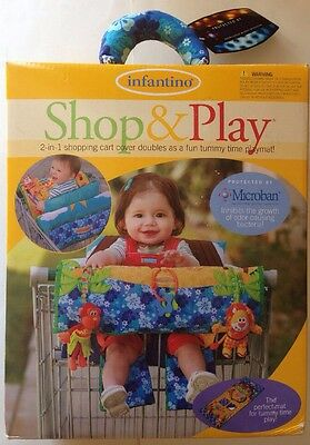 Infantino Shop & Play 2-in-1 shopping cart cover Doubles As Fun Tummy Time NEW