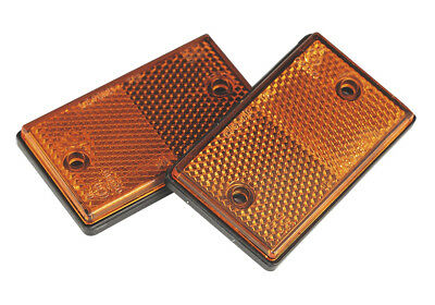 Sealey TB25 Reflex Reflector Amber Oblong Pack of 2