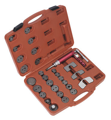 Sealey VS0286 Air Operated Brake Piston Wind-Back Tool Kit 29pc