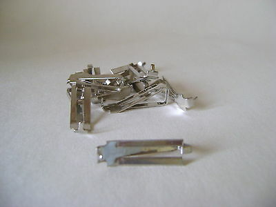 EIGHT SWISS D CLIPS FOR FRAMELESS PICTURE MOUNTS - MAXIMUM THICKNESS 7.5 mm