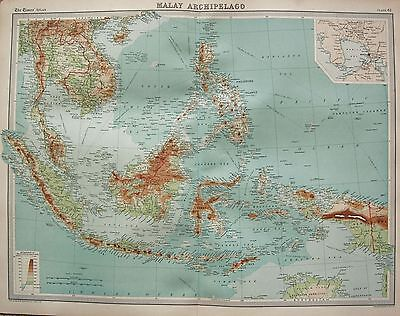 1920  Large  Map : Malay Archipelago