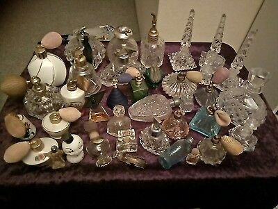 Over 30 Vintage Collectable Perfume Bottles