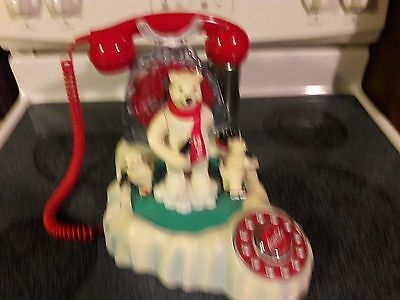 Coca Cola Polar Bear COKE Phone Collectible Needs repair
