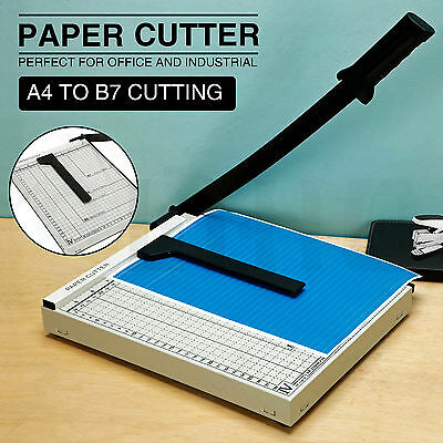 A4-B7 Manual Guillotine Paper Cutter Metal Base Trimmer Scrap Booking 10''x12''