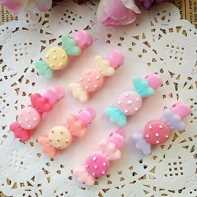 7pcs/lot Cute candy Kids Barrettes Girls Baby Hair accessories Hair clips