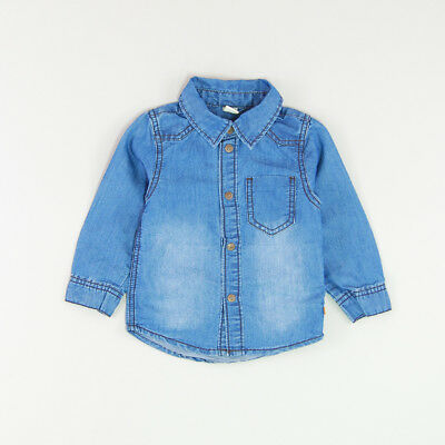 Camisa color Denim oscuro marca Name it 9 Meses