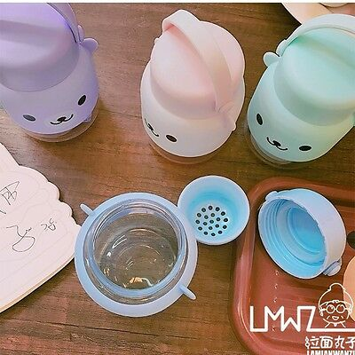 cute teddy bear thermos with strainer korean cute korea imported