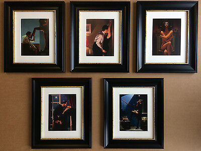 The Erotic Collection by Jack Vettriano Set of 5 Framed & Mounted Prints GRADE B