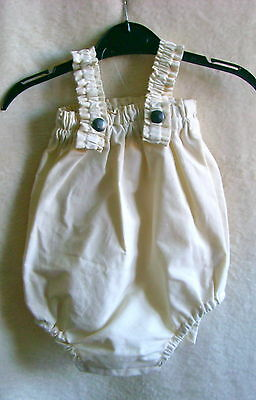 Hand Made And Designed Baby Romper - 0-3 Months