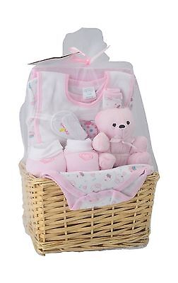 Big Oshi Baby Girl Essentials Gift Basket 9-Piece Layette Set Infant up to 0-6