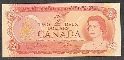 1974 Bank of Canada $2 Misaligned Serial Numbers Error