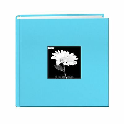 Fabric Frame Cover Photo Album 200 Pockets Hold 4x6 Photos Turquoise Blue - NEW