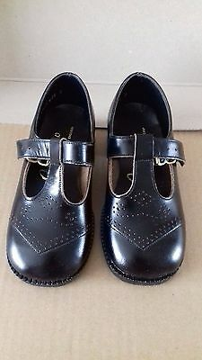 Vintage Pair Of Children's Fairystep Black Shoes Size 7