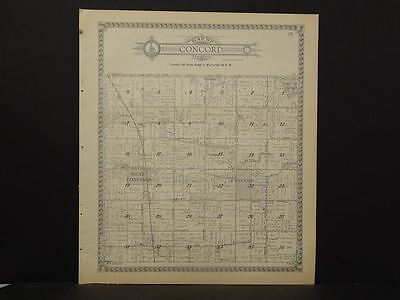 Minnesota  Dodge County Map Concord  Township  1937   J12#11