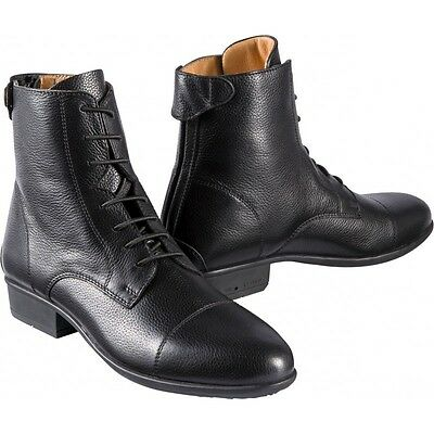 Equi-Theme Primera Grained Leather Lace Jodhpur Boots Black Or Brown 9140770
