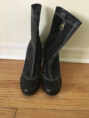 marc by marc jacobs black ankle boots size 38 1/2