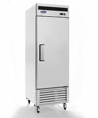 New 1 Door 23Cf Large Stainless Reach In Freezer W/ Casters Free Ship W Liftgate