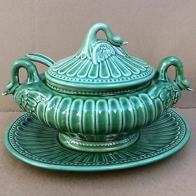 Magnificent Swan Tureen W Lid & Ladle