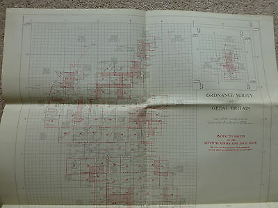 "Ordnance Survey large index sheet to 1"" 7th series maps  1955"