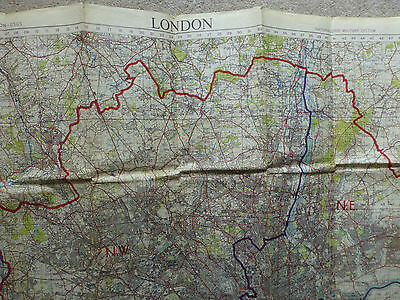 Ordnance Survey 1:63360 map sheet for the whole London area 1949