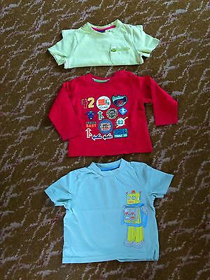 3 tops for boy aged 12-18 months