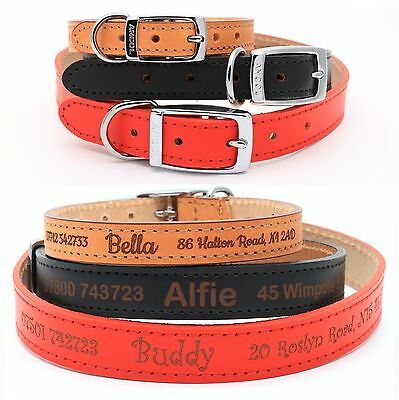 Personalised Dog Puppy Collar Tag, Ancol Heritage Finest Quality Leather UK made