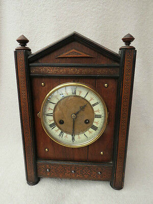 Antique German Arts And Crafts Style Striking Clock For Spares Repair