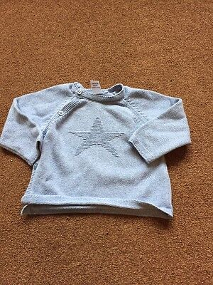 Next Baby Boys Knitted Star Jumper 6-9 Months Blue
