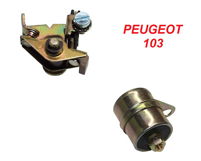 Peugeot 103 Capacitor Condenser + Contact Breaker Points Clutch Ignition Run
