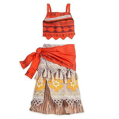 New Disney Store Moana Dress Costume Collection EXcellent Quality-Size-7/8